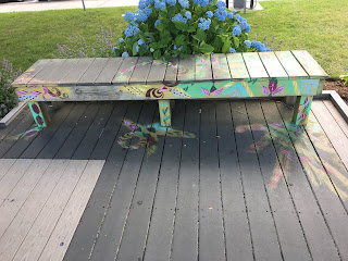 Painted Upcycled Benches Not Just A Place to Sit