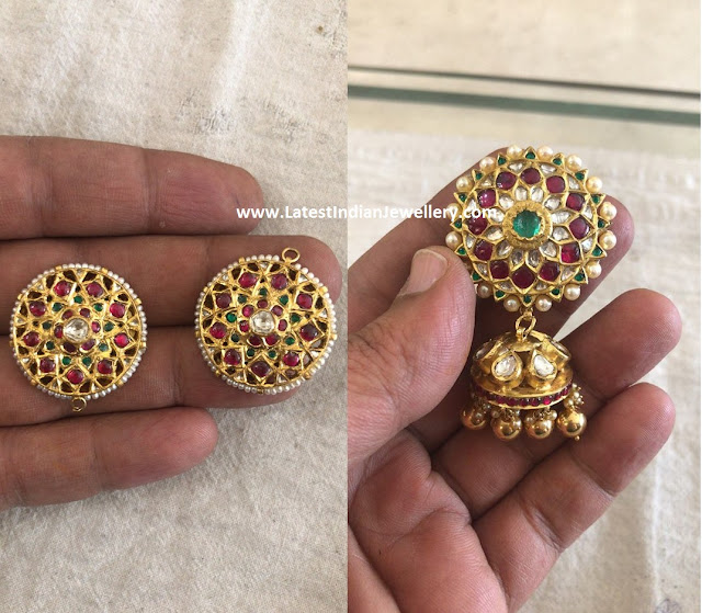 Large Studs Detachable Jhumkas