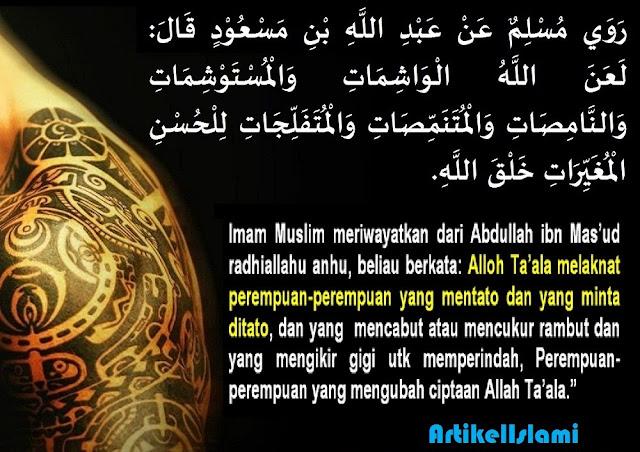 Hukum Bertindik dan Bertato Menurut Islam ~ Topik Islam