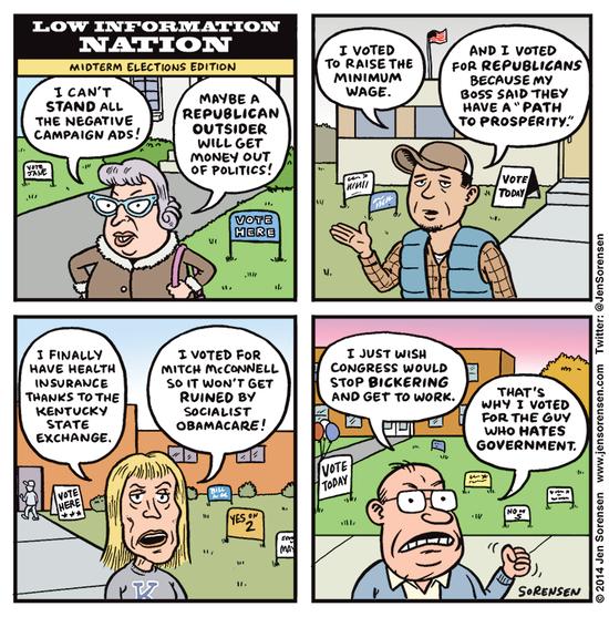 Low Information Nation:  Voters speak: