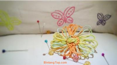 Handmade Broche - Cara Membuat Bros Bunga dari Benang Rajut