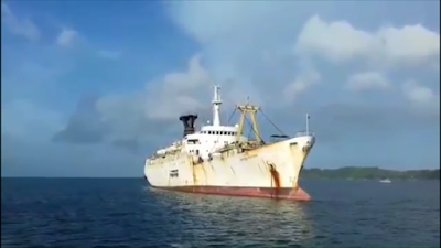 Laid up Ship Harsha Vardhana in Indian Waters.