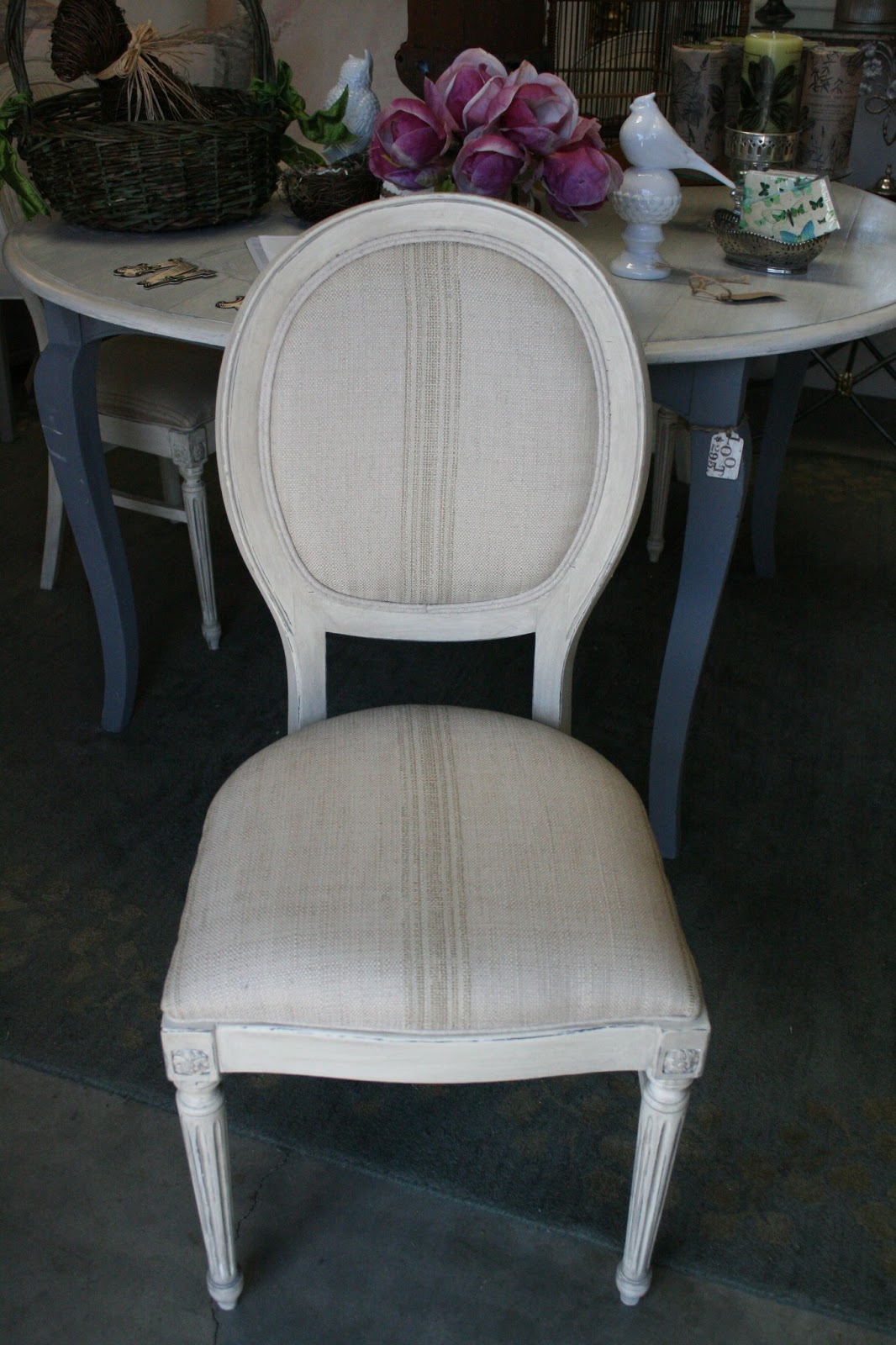 Round Back Dining Chair White Bistro Reloved Rubbish Chairs