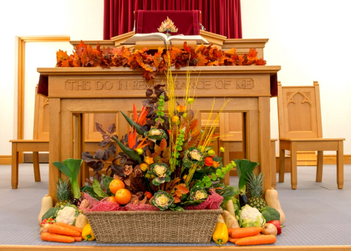 Thanksgiving Church Altar Decorations