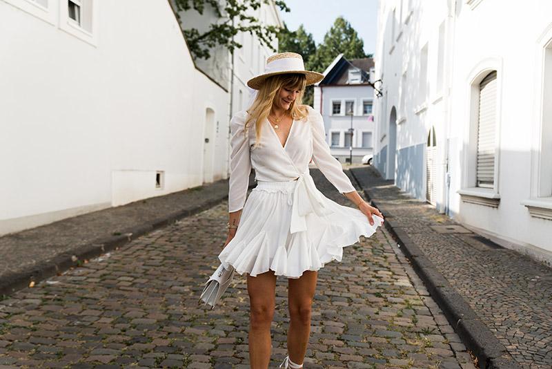 white storets skirt