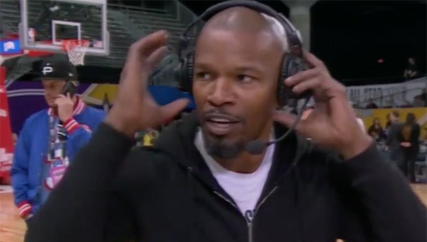 Jamie Foxx walks off during live ESPN interview after being asked about his boo, Katie Holmes