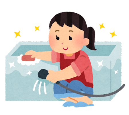 お風呂掃除のイラスト