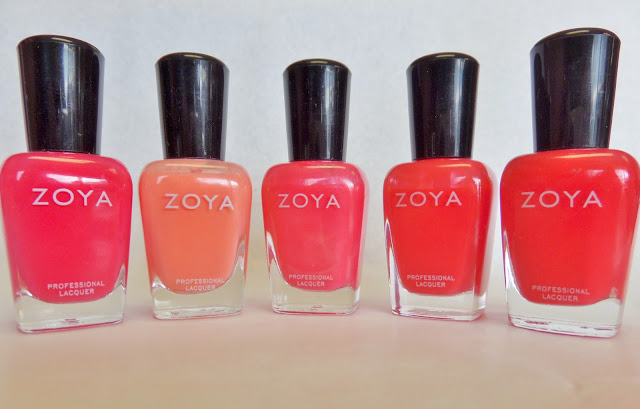 Zoya coral nail polish colors