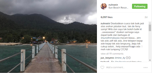 Terkandas di Pulau Tioman, Zulin Aziz Mohon Doa Peminat