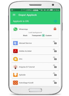 Cara mengunci aplikasi android dengan tombol volume (pola)