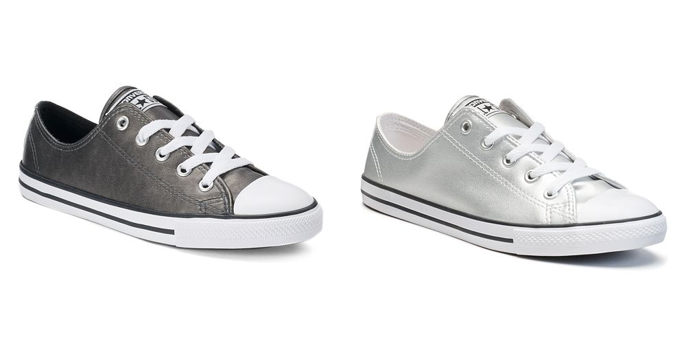 66f3459fae5 Head over to Kohls and grab this Women s Converse Chuck Taylor All Star  Dainty Metallic Leather Shoes on clearance to  19.50 (Reg.  65).