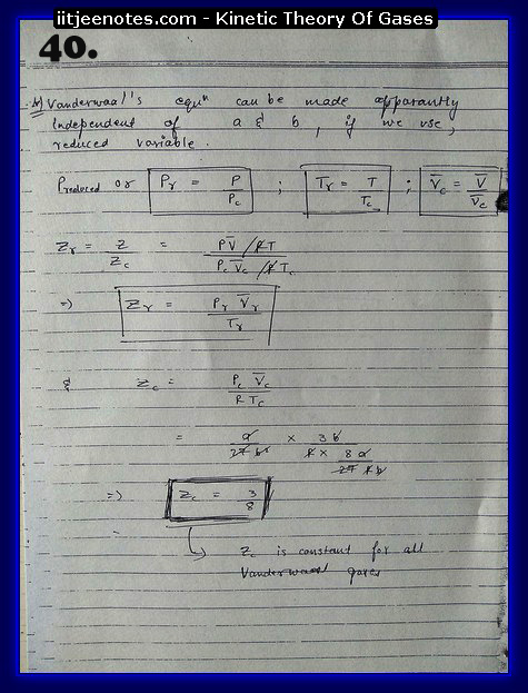 Kinetic Theory Of Gases Notes IITJEE10