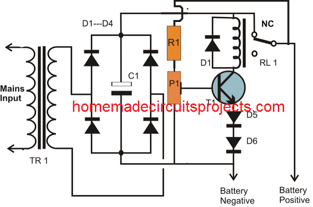 simplestbatterychargercircuit one transistor automatic battery charger