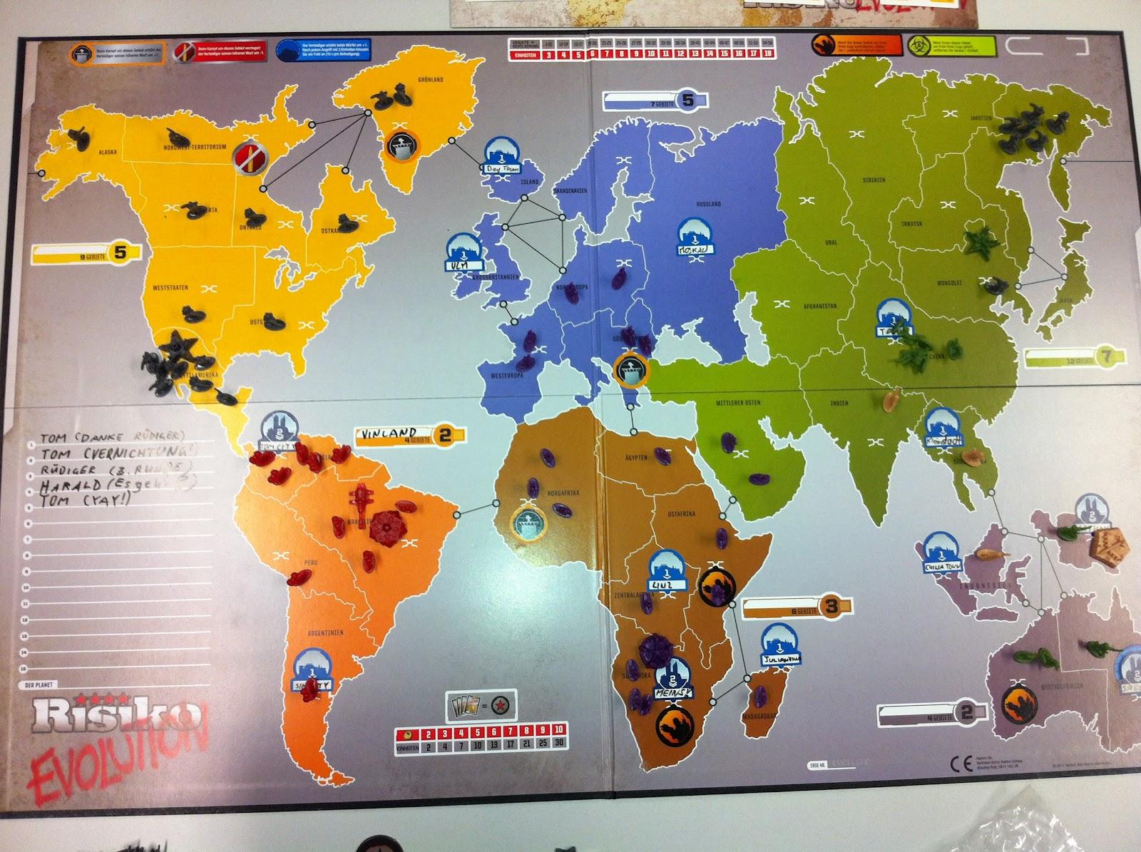 Risiko Spielfeld