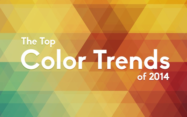 Trending colors of 2014 to use in your visual design - #infographic