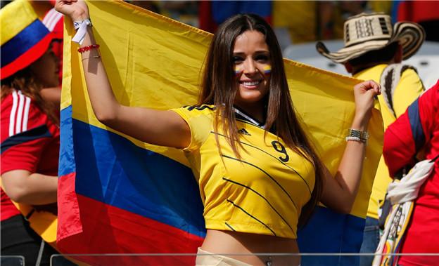 pendukung cantik dan seksi dari Kolombia