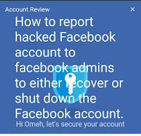 How to report hacked Facebook account to facebook admins