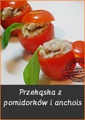 Przekąska z pomidorków i anchois
