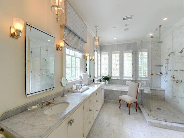 Cool and fresh bathroom furniture with contemporary decorative lighting Cool and fresh bathroom furniture with contemporary decorative lighting 30 Marble Bathroom Design Ideas 20