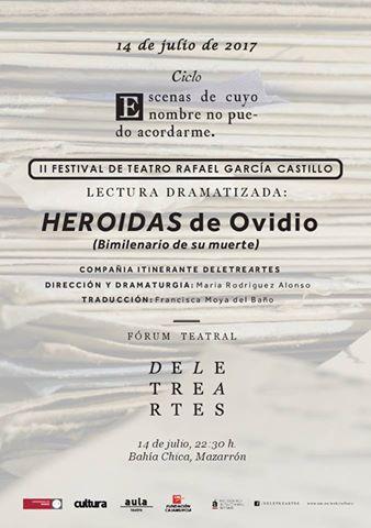 """Lecturas dramatizadas: """"Heroidas"""" de Ovidio (Bimilenario de la muerte)"""