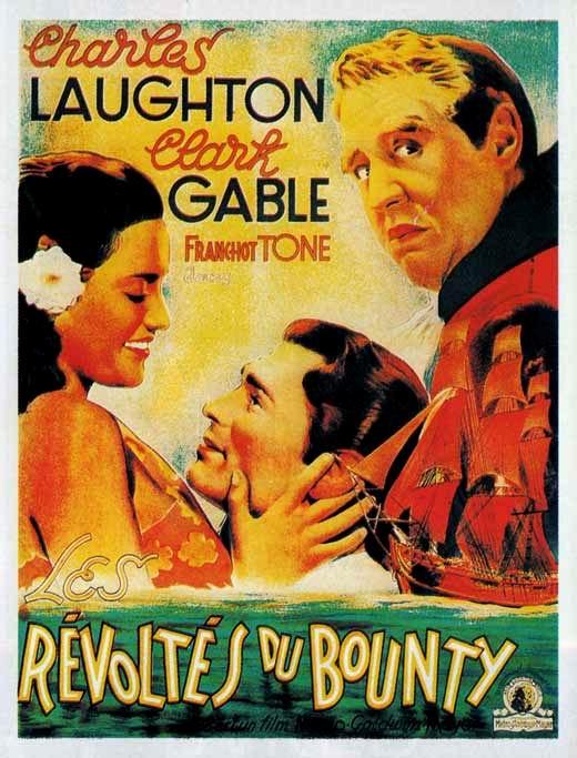Les Révoltés Du Bounty 1935 : révoltés, bounty, Affiches, Photos, D'exploitation, Bandes, Annonces:, Révoltés, Bounty, 1935), Frank, Lloyd, Mutiny, (08.05.1935, 11.09.1935)
