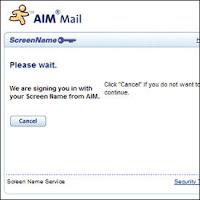 AIM logo. AOL, Inc.