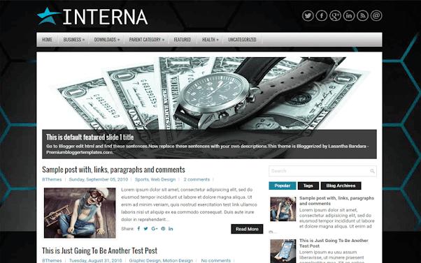 Interna Free Blogger Template