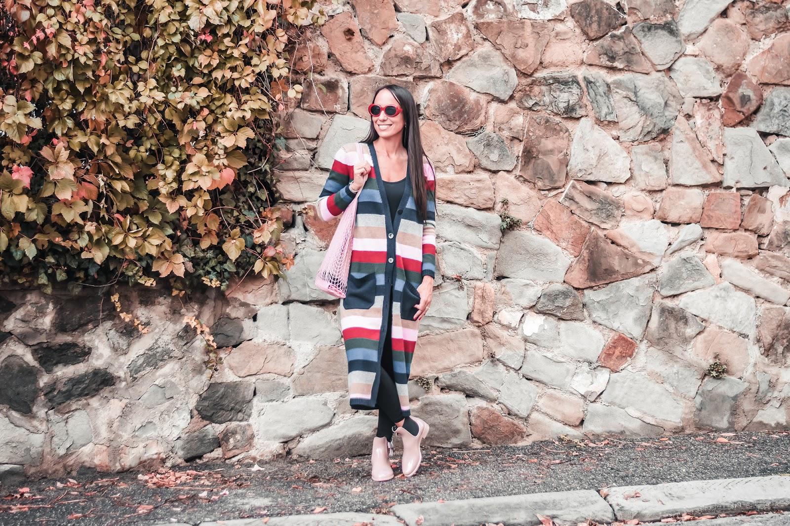 maglione righe arcobaleno