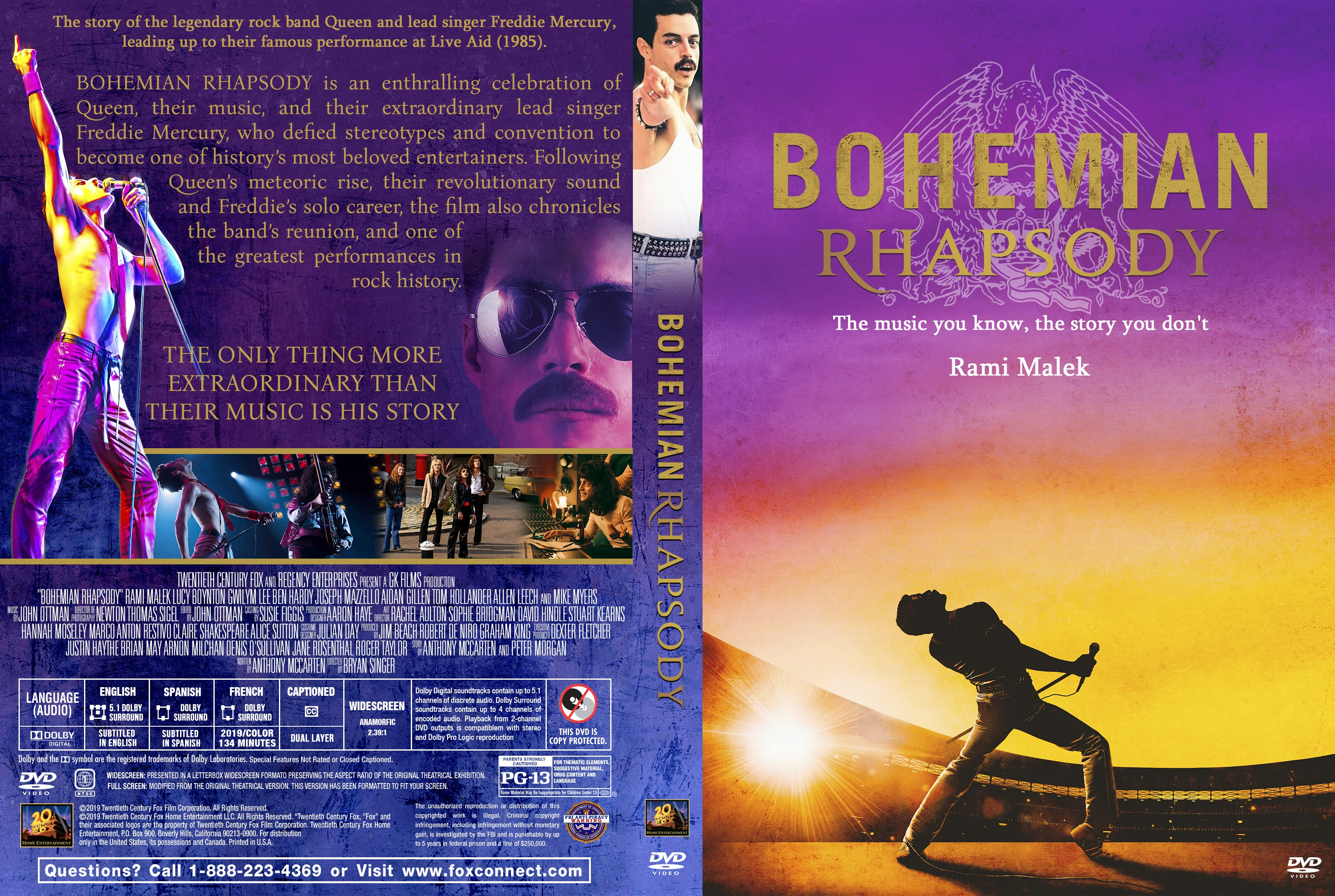 Bohemian Rhapsody Dvd Cover Cover Addict Dvd Bluray Covers And