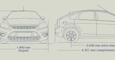 Ford Focus Hatch: Dimensões e especificações do Focus Hatch