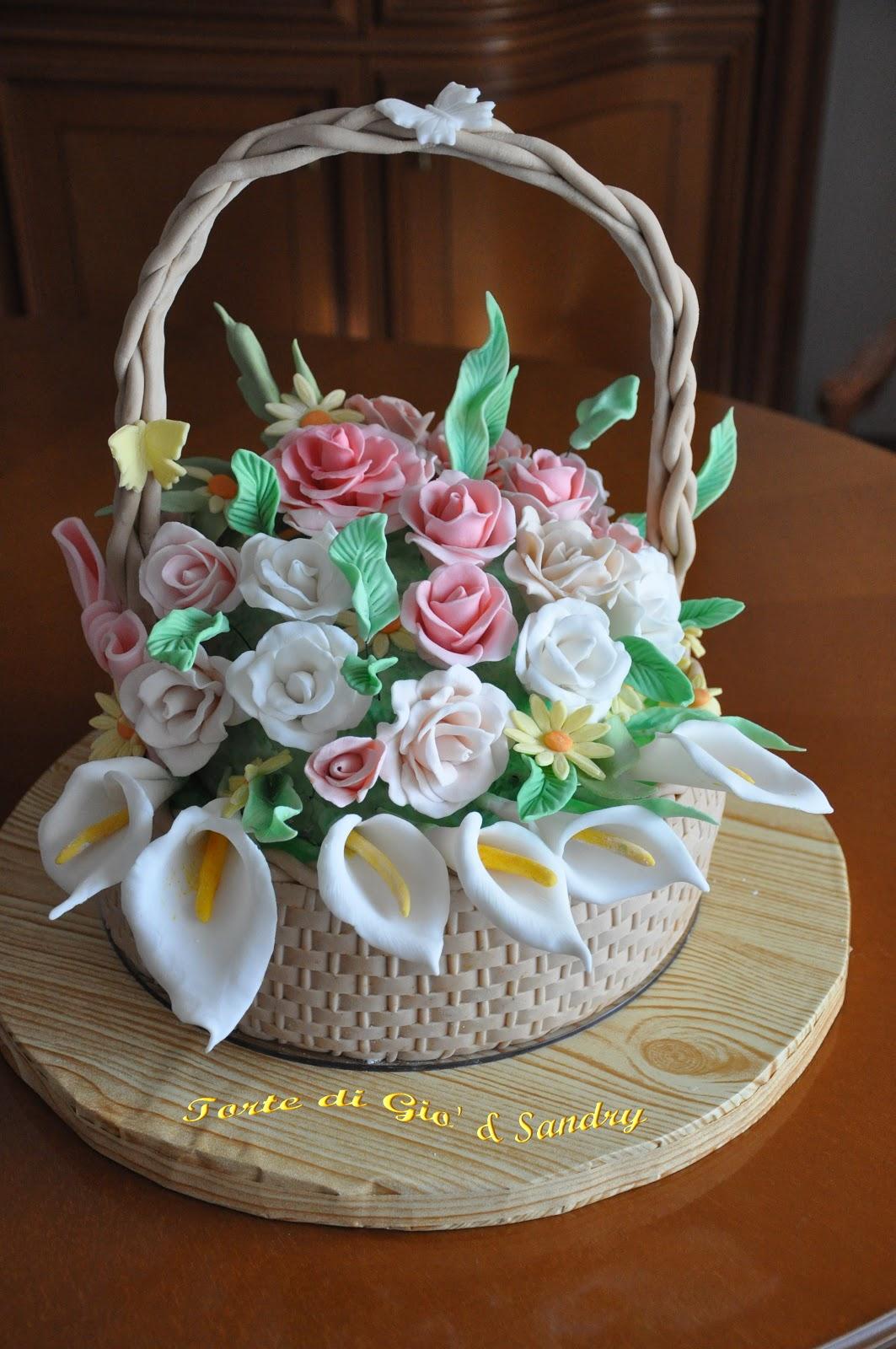 la dolce rosa di monte: Cesto floreale per Adriana