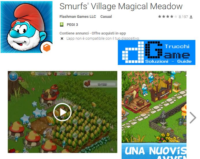 Trucchi Smurfs' Village  Mod Apk Android v1.42.0