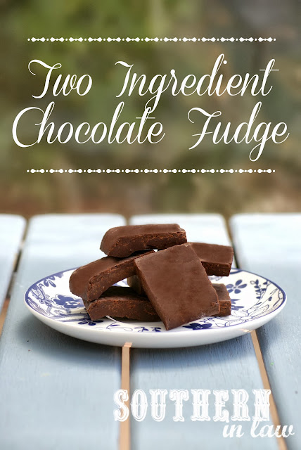 Simple Two Ingredient Chocolate Fudge Recipe