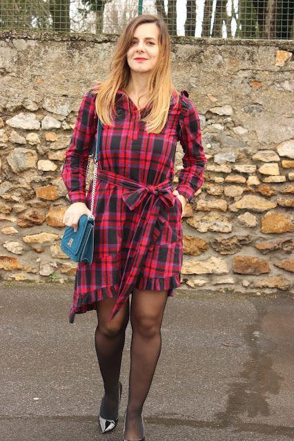 robe maje à carreaux hiver les petites bulles de ma vie
