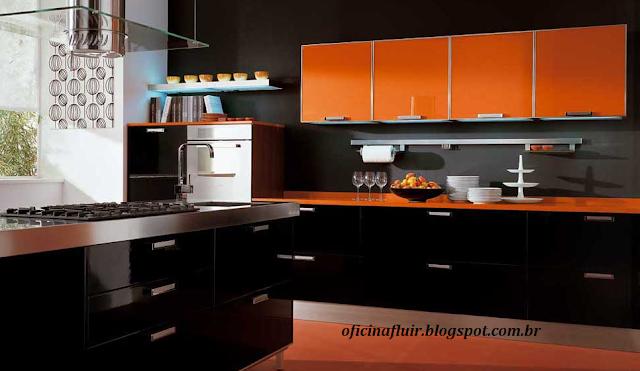 Amamos Cozinha: 10 cozinhas laranjas planejadas inspiradoras:
