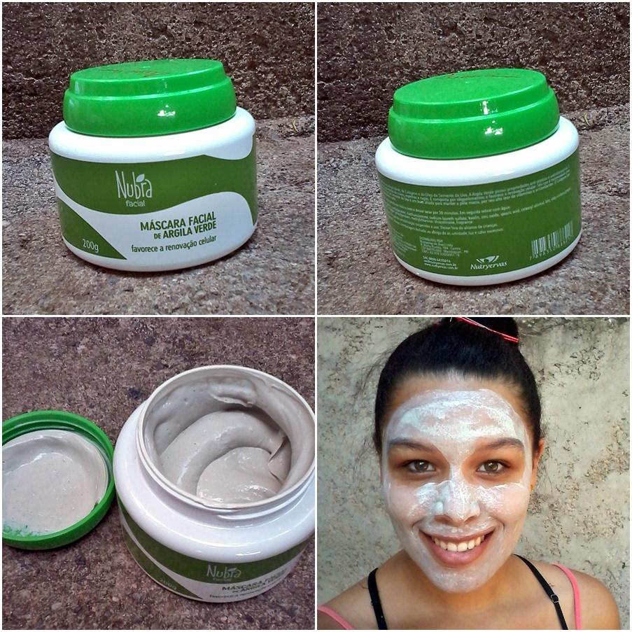 Adesivo De Parede Caveira ~ Resenha Máscara facial de argila verde Nutryervas