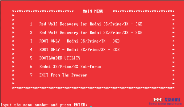 Cara pasang / install TWRP Red Wolf + Rooting Xiaomi redmi 3S/PRIME/3X