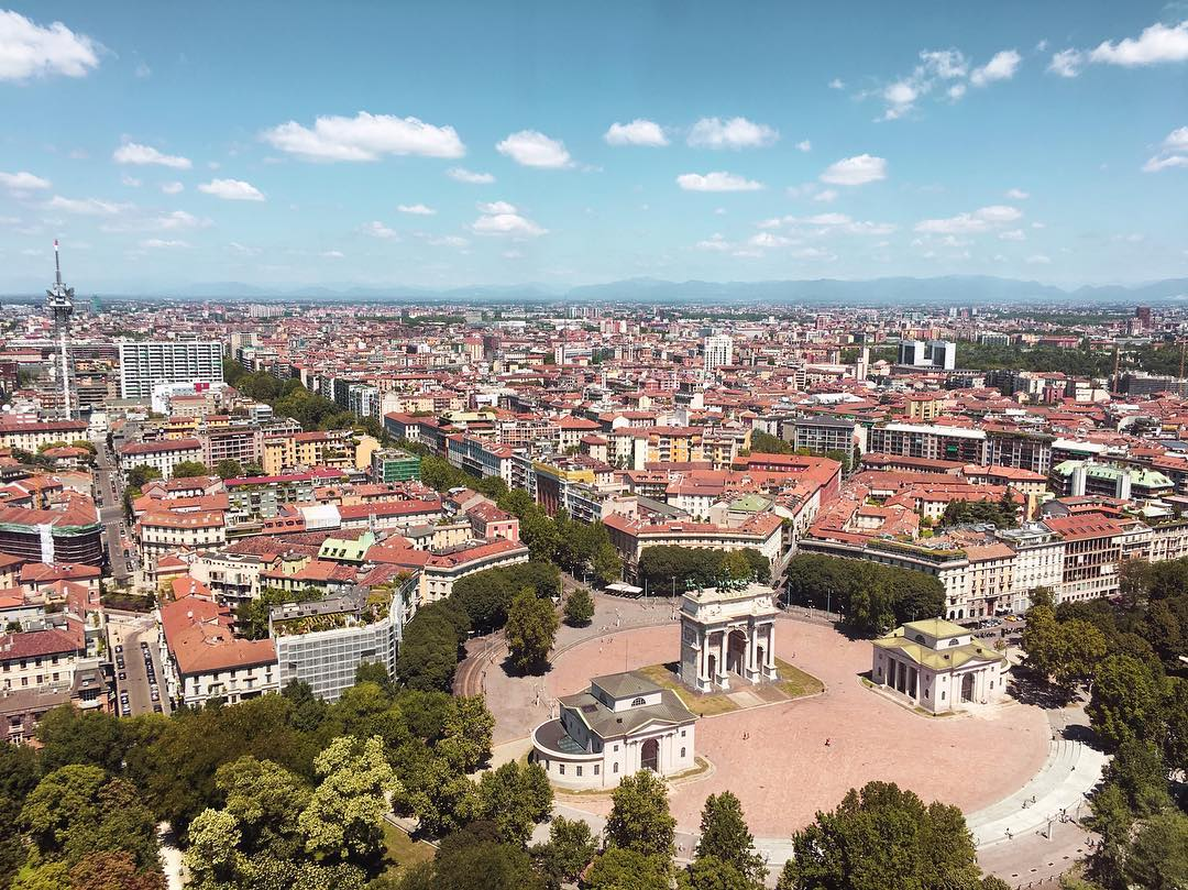 View from Torre Branca, Milan
