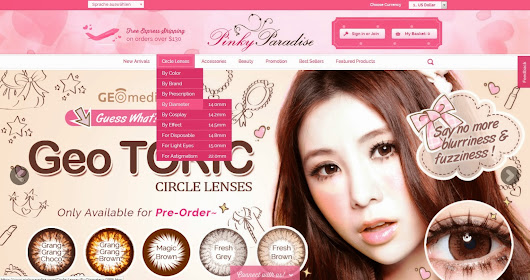 Introduction to Pinky Paradise ~ largest Circle Lens Online Store ♥
