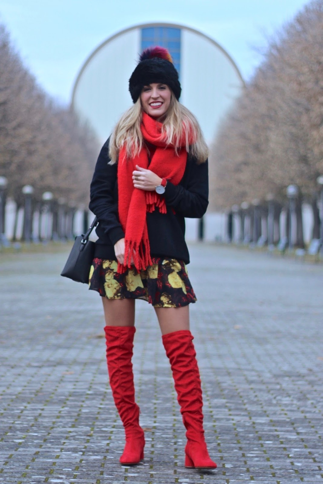 overtheknee red boots