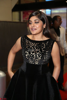 Niveda Thomas Black Sleeveless Cute Dress at 64th Jio Filmfare Awards South 2017 ~  Exclusive 087.JPG