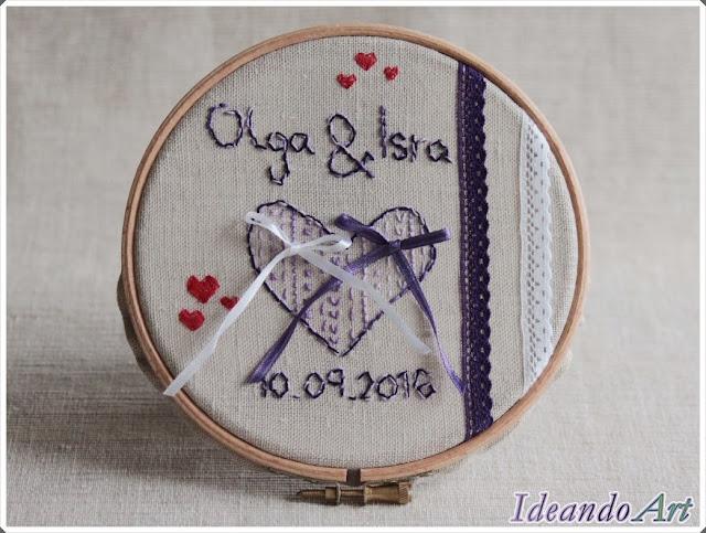 Bastidor handmade boda