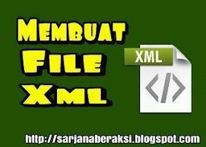cara membuat file format xml