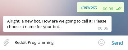 Membuat nama Bot