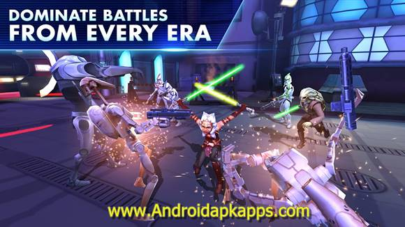 Free Download Star War Galaxy of Heroes Apk MOD v0.2.113720 Full OBB Data Latest Version Gratis 2016