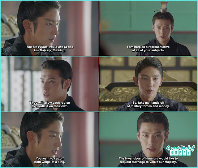 wang wook told wang so about the poweful families presurize for the tax and grain  - Scarlet Heart Ryeo - Episode 17 - 18 (Eng Sub)
