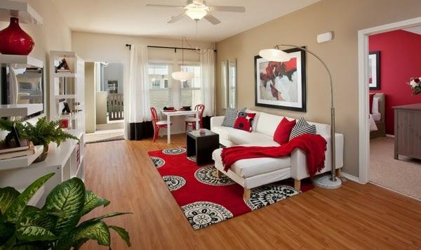 decoración sala alfombra
