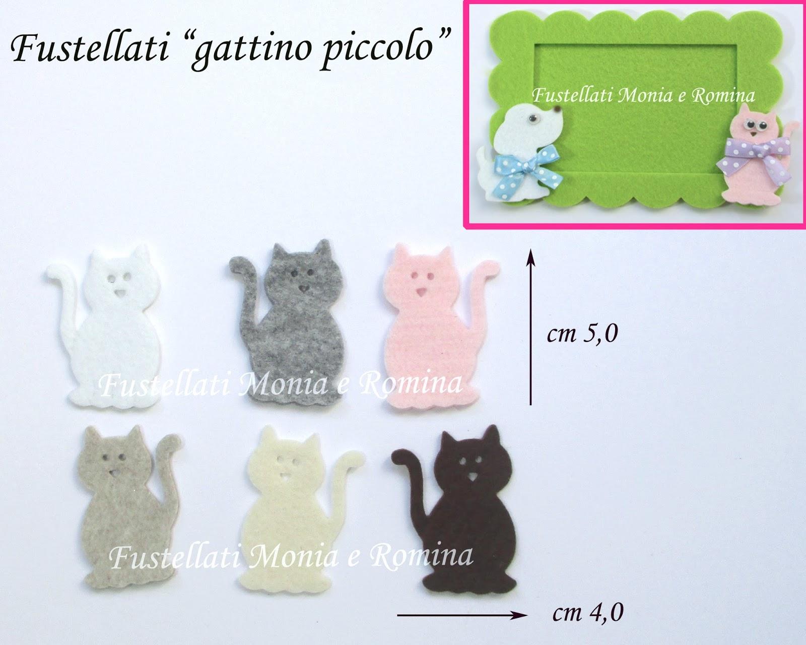 Conosciuto Fustellati in FELTRO a forma di gatti e gattini piccoli, zampe  VA04