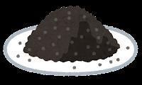 粉のイラスト(黒)