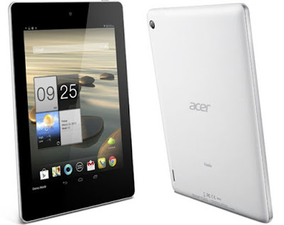 Acer Iconia Tab A1-810 Specifications - LAUNCH Announced 2013, April  Tablet with no support for GSM voice communication, SMS, and MMS  This is not a GSM device, it will not work on any GSM network worldwide DISPLAY Type LED-backlit IPS LCD capacitive touchscreen, 16M colors Size 7.9 inches (~63.6% screen-to-body ratio) Resolution 768 x 1024 pixels (~162 ppi pixel density) Multitouch Yes Features  BODY Dimensions 208.7 x 145.7 x 11.1 mm (8.22 x 5.74 x 0.44 in) Weight 410 g (14.46 oz) SIM No PLATFORM OS Android OS, v4.2.2 (Jelly Bean), upgradаble to v4.4.2 (KitKat) CPU Quad-core 1.2 GHz Chipset Mediatek MT8125 GPU PowerVR SGX544 MEMORY Card slot microSD, up to 32 GB (dedicated slot) Internal 8/16 GB, 1 GB RAM CAMERA Primary 5 MP, autofocus Secondary VGA Features Geo-tagging Video Yes NETWORK Technology No cellular connectivity 2G bands N/A GPRS No EDGE No COMMS WLAN Wi-Fi 802.11 b/g/n GPS Yes USB microUSB v2.0 Radio No Bluetooth v4.0, A2DP FEATURES Sensors Accelerometer, gyro Messaging Email, Push Email, IM Browser HTML5 Java No SOUND Alert types Vibration; MP3, WAV ringtones Loudspeaker Yes 3.5mm jack Yes BATTERY  Non-removable Li-Ion 4960 mAh battery (18.6 Wh) Stand-by Up to 350 h Talk time Up to 10 h (multimedia) Music play  MISC Colors Black  - HDMI port - MP3/WAV/WMA/eAAC+ player - XviD/MP4/H.264 player - Document viewer - Photo viewer/editor